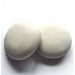 9,5mm Round Blank Gypsum pebble