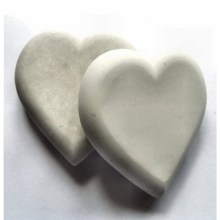 10x10mm Heart Blank Gypsum pebble