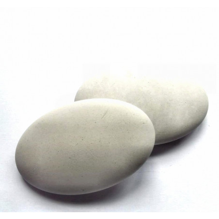 12x7,5cm Oval Blank Gypsum pebble