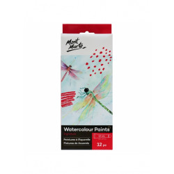 Mont Marte Signature Watercolour Paints 12pce x 12ml