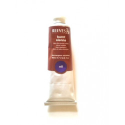 Reeves Burnt Sienna oil paints 60ml tube